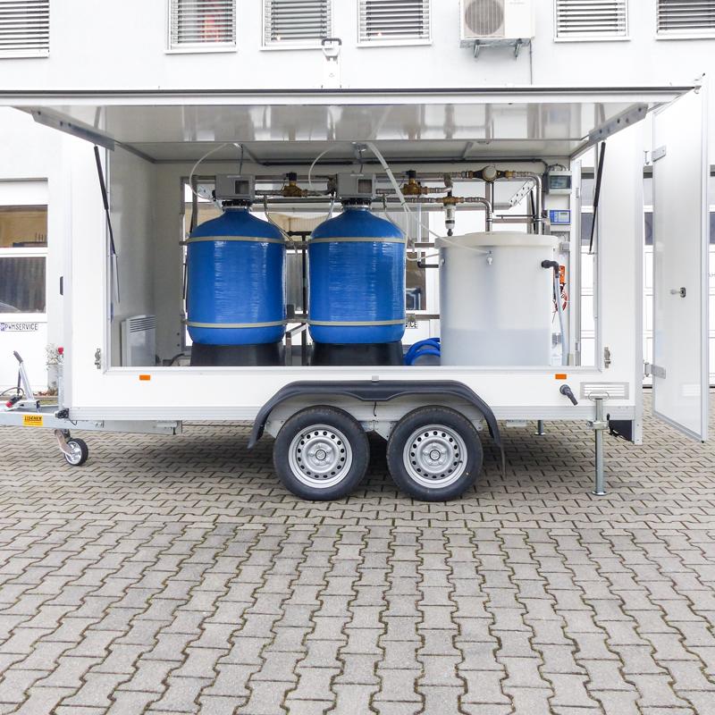 Wasserenthärtungswagen